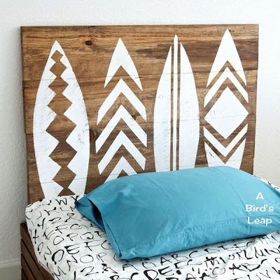 surfboard headboard