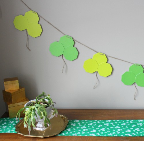 geometric shamrock garland (via designimprovised)