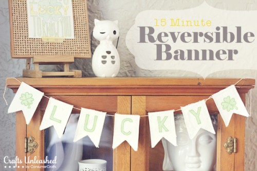 canvas St.Patrick's Day banner (via craftsunleashed)