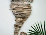 seahorse driftwood art