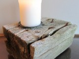 driftwood candeholder