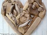driftwood heart art