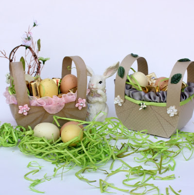 cardboard Easter basket (via etsyrussianteam)