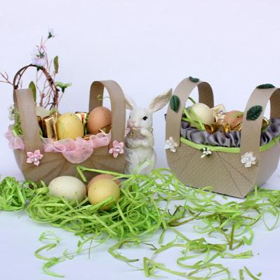 cardboard Easter basket (via etsyrussianteam)