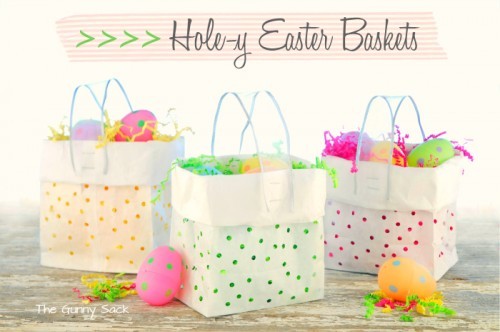 paper lunch bag baskets (via thegunnysack)