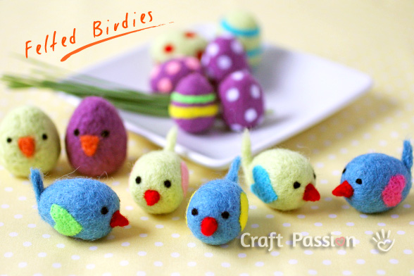 17 Cool Easter Kids' Crafts » felted littl birdies (via ...