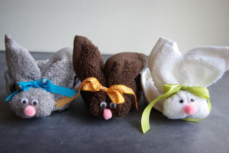 wash cloth bunny