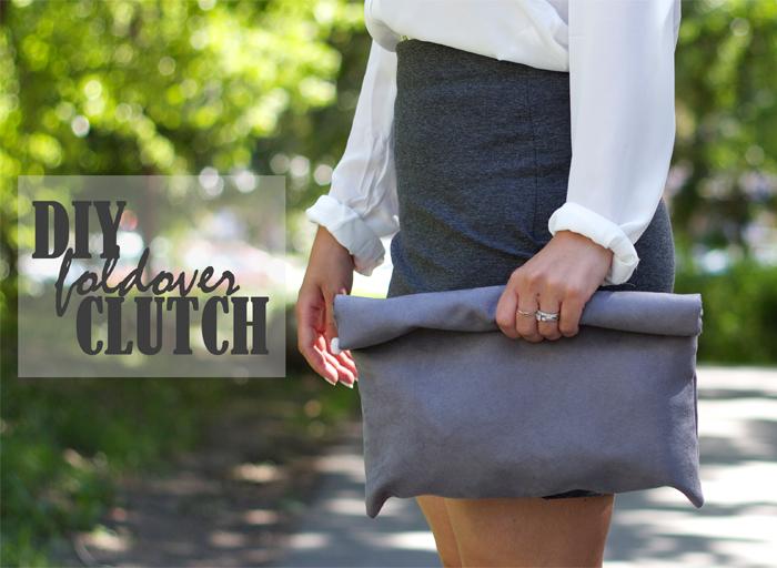 foldover fabric clutch