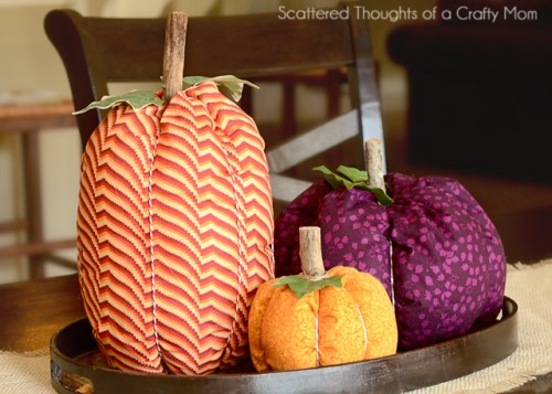 colorful fabric pumpkins