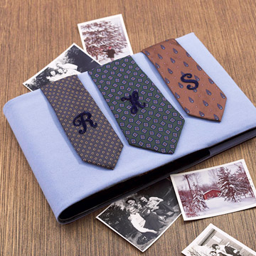 photo album decorated with ties