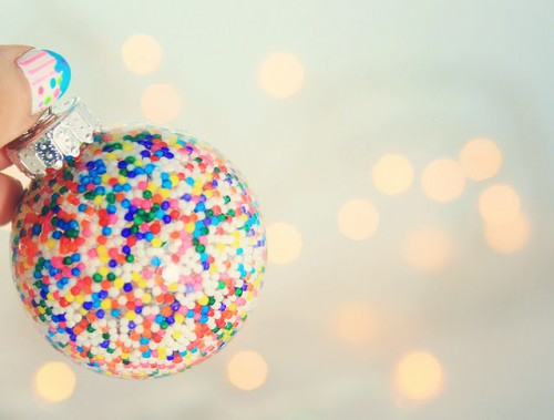 Cool Handmade Christmas Ornament Filled With Candy Sprinkles