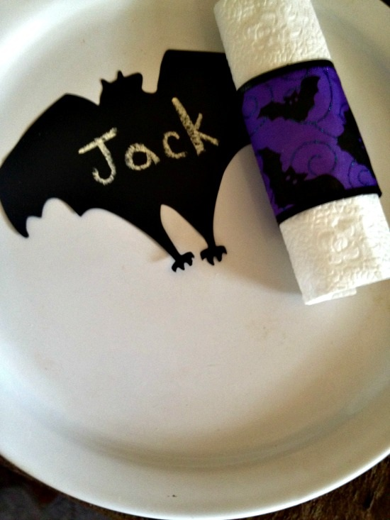 spooky supper napkin rings