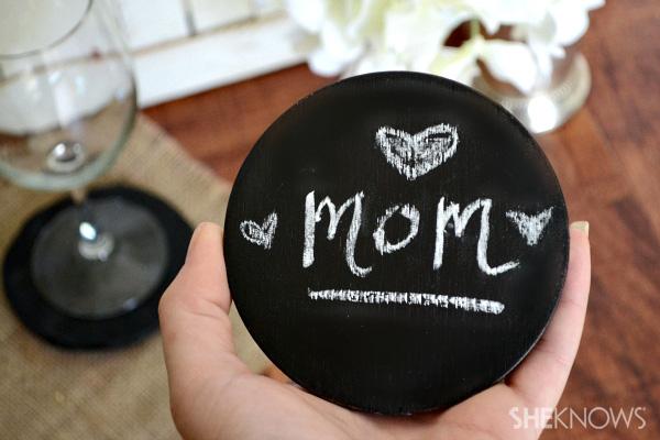 clay chalkboard coasters