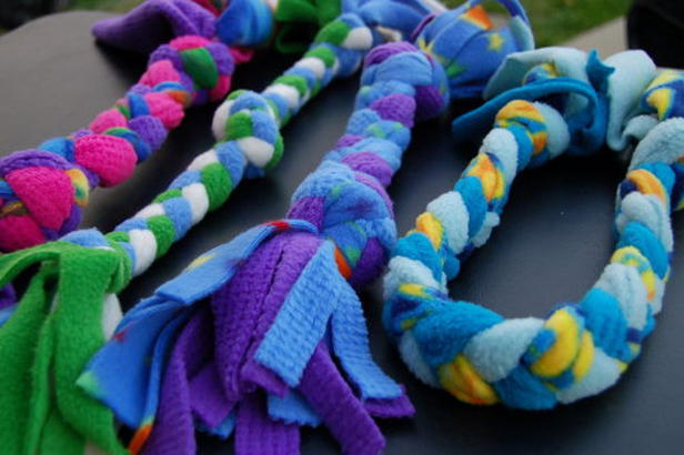 fleece rope dog toy