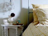 whimsical vintage crystal hanging lamps are nice to accent the bedroom and will bring much light making