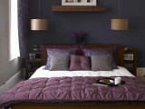 copper bedside hanging lamps add a chic touch thanks to metallic shades and an elegant shape