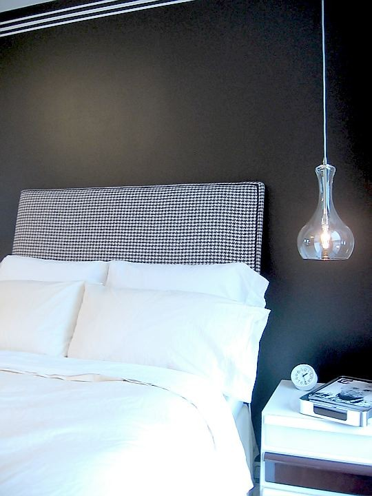 styish sheer glass hanging lamps are nice for a contemporary or Scandinavian bedroom