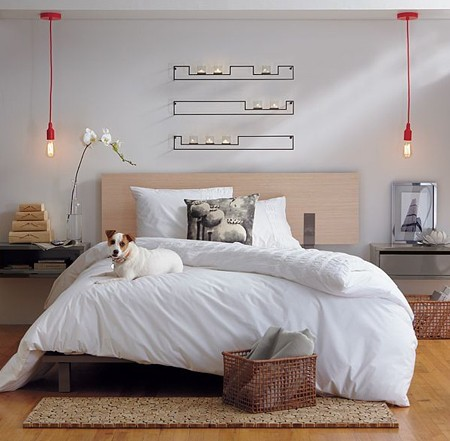 37 cool hanging bedside lamps shelterness - Lamparas para dormitorios ...