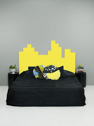 Cute headboard idea that can be used for a kids room