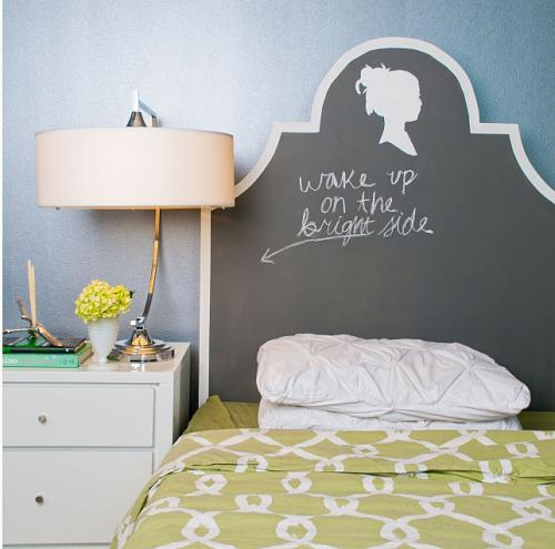 Chalkboard headboard. Chalkboard headboard. Idea for an inexpensive ...