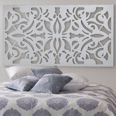 Lacer cut headboard can always become a wall art by itself