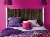 cute fabric headboard