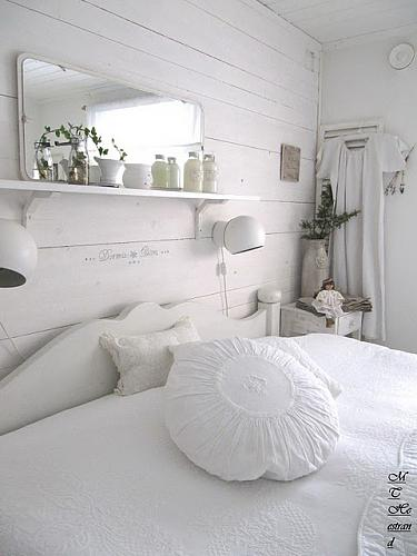 Unique Simple shelf is a great addition to a wall near the bed
