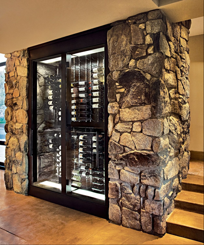 Picture of cool home wine cellar design Home wine cellar design