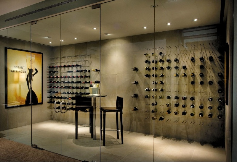 Picture of cool home wine cellar design for Wine cellar layout