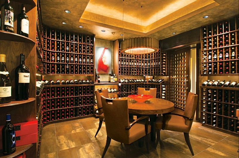 Picture of cool home wine cellar design for Home wine cellar design ideas