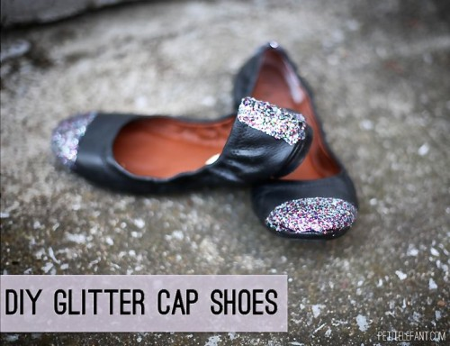 flats with glitter stripes (via petitelefant)