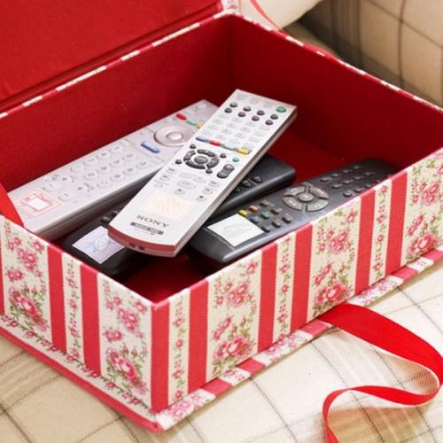 Floral Remote Control Storage Box. Pub Orig IH 11/