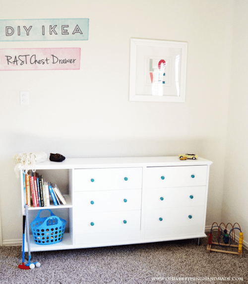 RAST chest of drawers hack for a boy's room (via oheverythinghandmade)