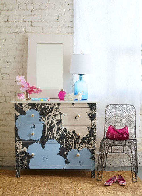cool and hip Hemnes dresser (via shelterness)