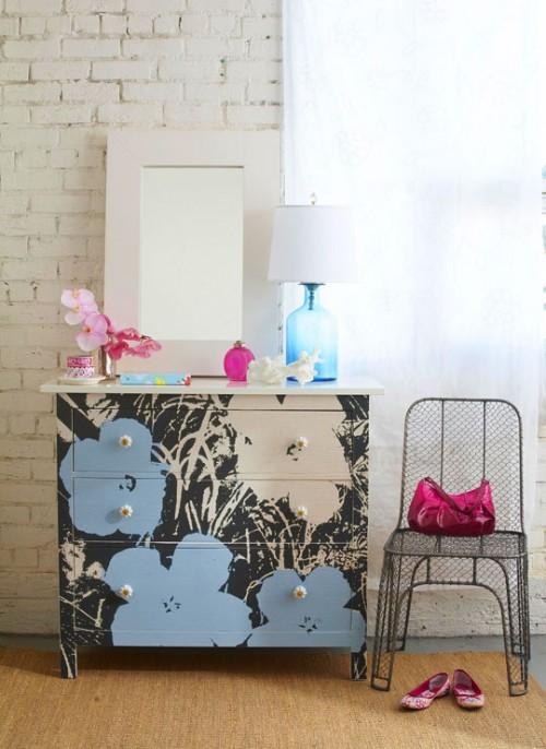 cool and hip Hemnes dresser (via shelterness)