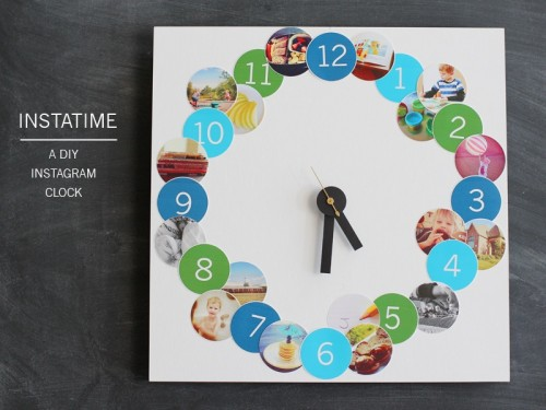 instagram photo clock (via shelterness)