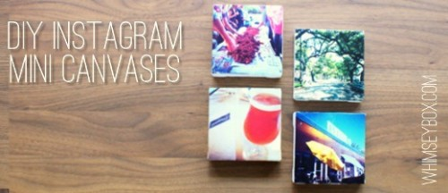 instagram mini canvases (via blog)