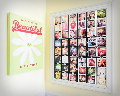 instagram photo wall organizer (via shelterness)