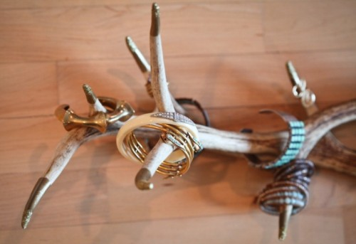 Cool Jewelry Display Of Antlers