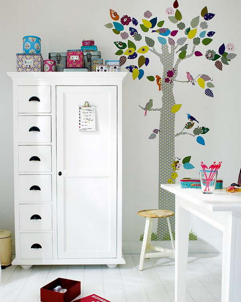 Wall decals are perfect way to add an interesting touch to kids room s  walls. 40 Cool Kids Room Decor Ideas That You Can Do By Yourself