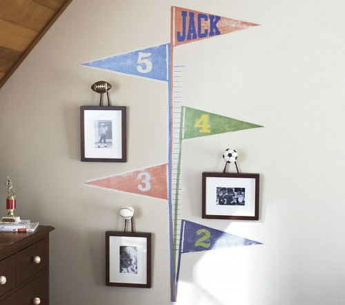 Kid's growth chart decal not only a cute wall decor but also a practical one.