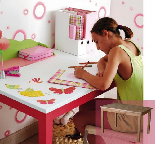 Cardboard is great for craft projects with kids. In the result you can get something to upgrade their boring furniture.