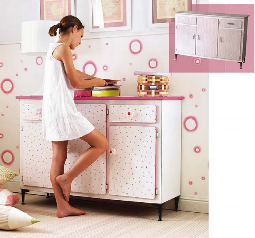 Trend Here is how you can turn an ugly storage cabinet into a cute addition to a
