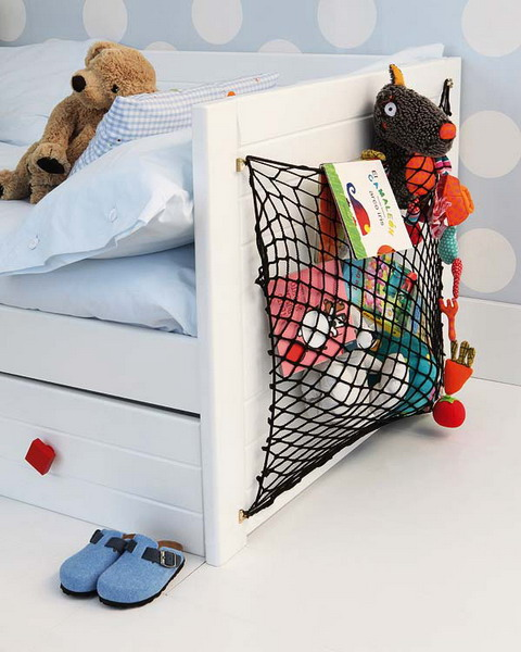 This is a super simple yet a super useful storage hack for a kids room.