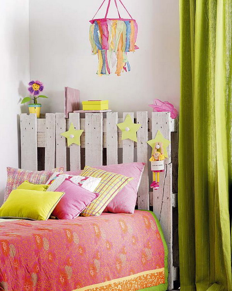 Nice Even a kid us bed could look awesome with a DIY pallet headboard Just some cute
