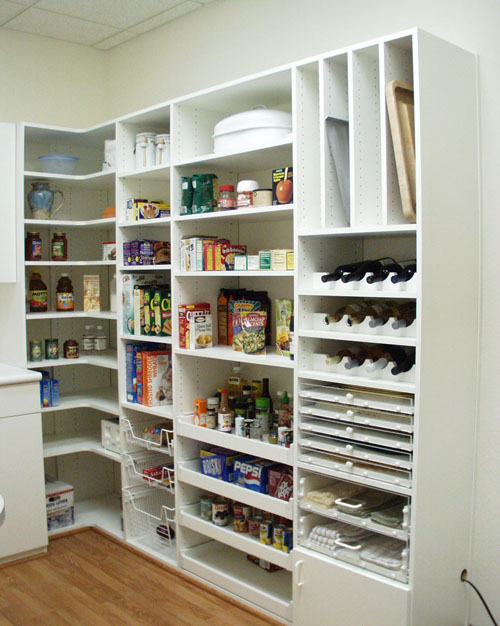 diy kitchen pantry solution with thoughtful shelving system - Walk In Pantry Design Ideas