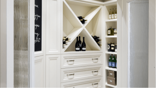 Cool Kitchen Pantry Design Ideas. Good Looking Wine Storage Solution