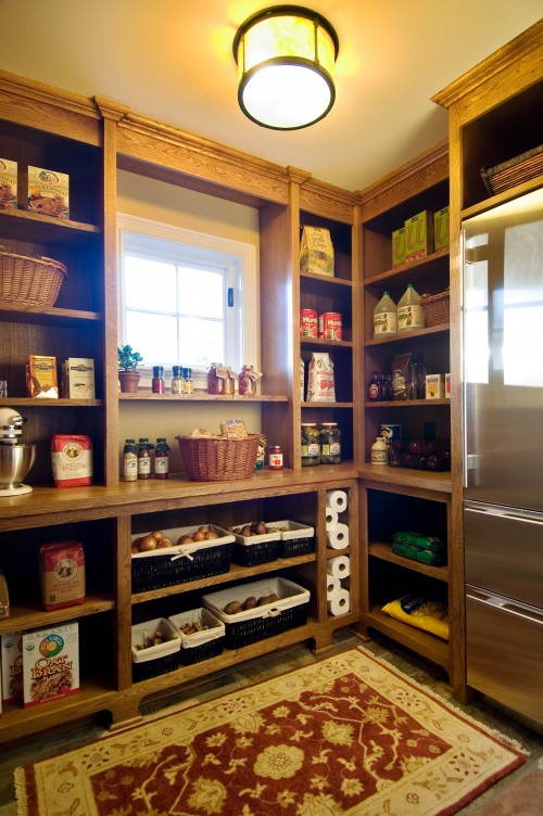 An additional fridge in a pantry could solve your problems if your have beautiful but small built-in fridge on your kitchen