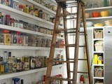 Vintage ladder for a modern pantry