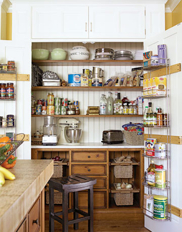 Amazing kitchen pantry cabinet that looks like it s built in 47 Cool Kitchen Pantry Design Ideas  Shelterness